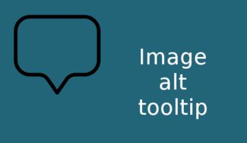 Image alt tooltip