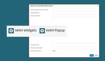 Widgets & Modal windows