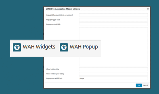Widgets & Modal windows