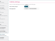 visibility settings section